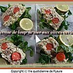 recette Terrine de loup de mer aux olives vertes