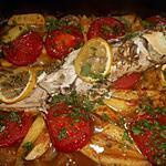 recette Mulet au four à la grecque