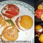 recette POELEE DE TOMATES MOZZARELLA