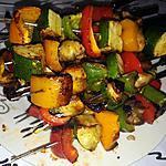 recette Brochettes de légumes