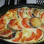 recette Plat aux légumes gratinés à la mozzarella et aux oeufs