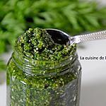recette Pesto aux fanes de carottes