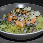 recette Salade de pommes de terre aux scampis