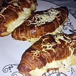 recette Croissants a la béchamel et au Montcadi