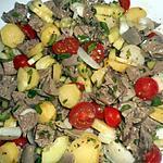 recette Salade de  langue de veau