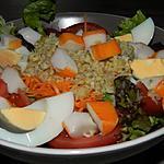 recette Duo de salades au boulgour et crabe
