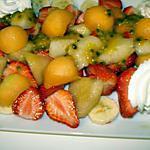 recette Salade de fruits avec chantilly