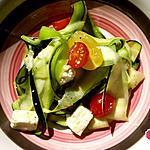 recette Tagliatelles de courgette en salade