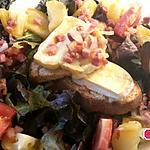 recette Salade de Brie fondu et lardons