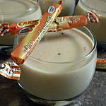 recette Semoule aux carambars coeur de chocolat.