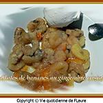 recette Papillotes de bananes au gingembre cristallisé