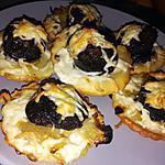 recette Minis pizzas au confit d'oignon et boudin noir