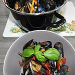 recette Moules sauce provençale piquante au basilic