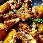 recette Pommes de terre et poulet à la chermoula de jeanmerode