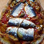 recette Pizza à la sardine et chermoula