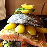 recette Burger saumon pesto et pain gris
