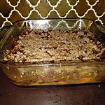 recette Crumble chocolat Abricot Raisin sec