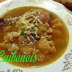 recette Soupe légère, au chou-fleur, à la ciboulette et au fromage.