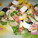 recette Tagliatelles de courgettes,roquette et jambon cru en salade