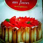 recette Charlotte aux fraises avec des gâteaux bretons