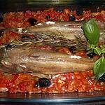 recette Rouget grondin à la méditerranéenne