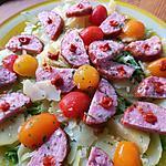 recette Salade mi tiède à la saucisse de morteau