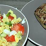 recette Salade de pâtes pour accompagner un pavé de boeuf