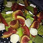 recette Salade romaine au chèvre et aux figues