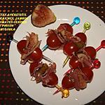 recette Brochettes apéritives figues fraiches jambon cru tomates cerise