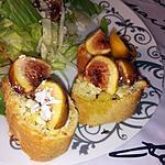 recette Tartines de chèvres grillé et figues