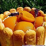 recette Charlotte mascarpone pêche-lavande réalisée en 15min!!..