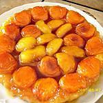 recette Tatin d'abricots et pêches