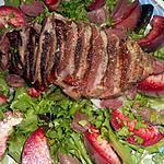 recette Salade au magret de canard aux peches de vigne