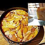 recette Gateau renversé aux pêches et hibiscus