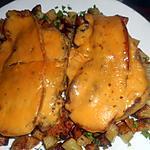 recette Cotes de porc au lard et cheddar