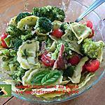 recette Salade demi-lune au pesto