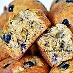 recette Muffin aux bananes et cassis