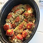 recette tomate et courgette farcies au chèvre et quinoa