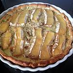 recette tarte au camembert et courgettes