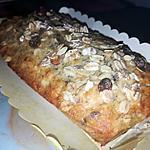 recette Cake a la banane (banana bread) et au muesli