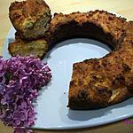 recette gâteau- pomme-crème de marron et son dessus à la noix de coco