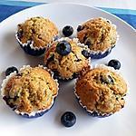 recette Muffins aux myrtilles sans beurre