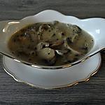 recette Sauce aux champignons crème