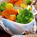 recette Papillote de bar à la patate douce et confiture de gingembre ( recette façile et délicieuse )