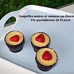 recette Coupelles noires et mousse au chocolat blanc