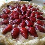 recette Tarte aux fraises sur lit de créme patissiére