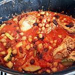 recette Tajine de poulet au pois chiches