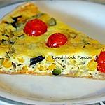 recette Tarte au maïs, courgette et tomates cerises
