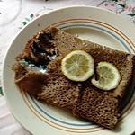 recette galette  blé noir et sardines fraiches