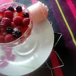 recette verrine  fruits  en gelée  et nuage de lait de   kilométre  zéro;